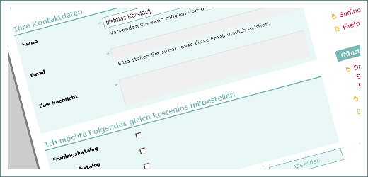 Formulardesign Screenshot